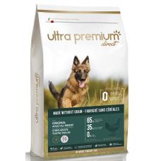 Ultra Premium Direct Original Adult all breeds - суха храна за пораснали кучета от всички породи, без зърно, 65% месо и месни съставки, пиле и риба, 12 кг, Франция GF1203