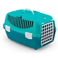 GULLIVER 1 - транспортна чанта за кучета и котки, с процеп за колан, 48 х 32 х 31Н см - СИНЯ STEFANPLAST Италия