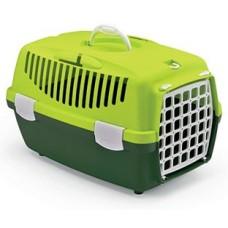 GULLIVER 1 - транспортна чанта за кучета и котки, с процеп за колан, 48 х 32 х 31Н см - ЗЕЛЕНА STEFANPLAST Италия