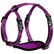 Alcott Adventure harnesses - нагръдник за куче Адвенчър, лилав, размер M: 18 см дължина, 35-50 см шия, 58-65 см гръден кош, ширина на лентата 2 см - HSMDPL