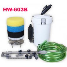 Външен филтър (канистер) за аквариум с дебит 400 литра за час 6W HW-603B