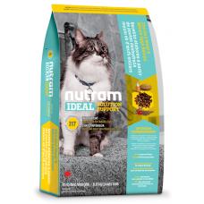 I17 Nutram Ideal Solution Support® Indoor Shedding Natural Cat Food, Рецепта с Пиле, Овес и цели Яица, за капризни котки, живеещи в затворени помещения от 1 до 10 години, Канада - 1,8 кг