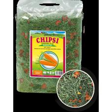 JRS Chipsi Sunshine Carrot - сено с моркови от най-високо качество, с забележителен аромат и вкус за гризачи и малки животни - 750 гр