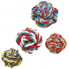Играчка памучно въже топка Gloria Cotton rope ball - 4 - 5 см JU00300