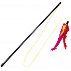 Играчка за котка Въдица Gloria с перца 46,5 см пръчка - 135 см въже, Испания - JU00362