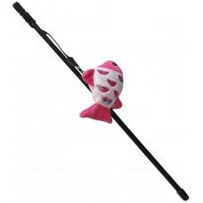 Играчка за котка Въдица Gloria Fishing Rod Plush Toy A - въдица с плюшена играчка 41 см, Испания - JU00428A