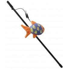 Играчка за котка Въдица Gloria Fishing Rod Plush Toy B - въдица с плюшена играчка 41 см, Испания - JU00428B