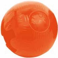 Гумени играчки Gloria TRP Ball Оранжев - топка, за лакомства, плуваща - 5,7 см, Испания - JU00510