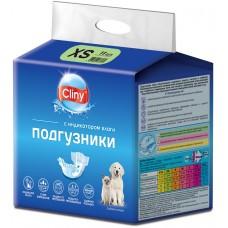 Cliny - гащи за кучета и котки, размер XS, 2-4 кг и талия 15-25 см - 11 бр, Русия K201