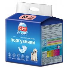 Cliny - гащи за кучета и котки, размер М, 5-10 кг и талия 30-40 см - 9 бр, Русия K203