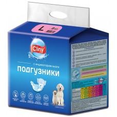 Cliny - гащи за кучета и котки, размер L, 8-16 кг и талия 35-45 см - 8 бр, Русия K204