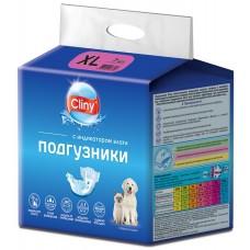 Cliny - гащи за кучета и котки, размер XL, 15-30 кг и талия 40-55 см - 7 бр, Русия K205