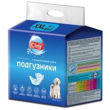 Cliny - гащи за кучета и котки, размер XXL, 25-40 кг и талия 45-62 см - 6 бр, Русия K212