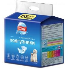 Cliny - гащи за кучета и котки, размер XXS, 1-2,5 кг и талия 13-22 см - 12 бр, Русия K213
