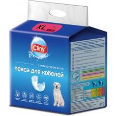 Cliny - хигиенни гащи за МЪЖКИ кучета, размер XL, 15-35 кг и талия 64-82 см - 7 бр, Русия K217