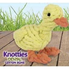 Играчка от въже Pet Brands Jenni The Rope Duckling - жълто пате 7х7х13см, Англия KD85