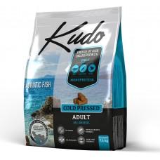 Kudo Adult Adriatic Fish, студено пресована храна за пораснали кучета от всички породи, над 12 месеца, БЕЗ ЗЪРНО, с дива риба - 2,5 кг - Сърбия