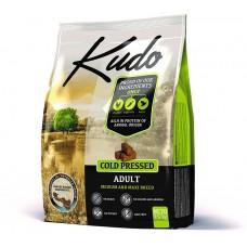 Kudo Adult Medium Maxi, студено пресована храна за пораснали кучета от средни и едри породи, над 12 месеца, БЕЗ ЗЪРНО, с пилешко месо - 2,5 кг - Сърбия