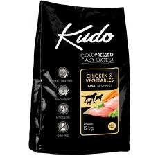 Kudo Low Grain Chicken Adult, студено пресована храна за пораснали кучета от всички породи, над 12 месеца, с пилешко месо, БЕЗ ГЛУТЕН - 12 кг - Сърбия