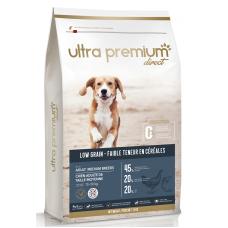 Ultra Premium Direct Adult medium breeds - суха храна за пораснали кучета от средни породи, с ниско съдържание на зърно, 45% месо и месни съставки, пилешко месо, 12 кг, Франция LG1204