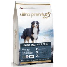 Ultra Premium Direct Adult salmon rice all breeds - суха храна за пораснали кучета, с ниско съдържание на зърно, сьомга с ориз, 45% месо и месни съставки, 12 кг, Франция LG1207