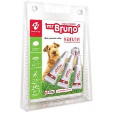 Mr.Bruno Spot-on - натурални, противопаразитни капки за кученца и кучета от средни породи - 3 х 2,5 мл, Русия, MB05-00930