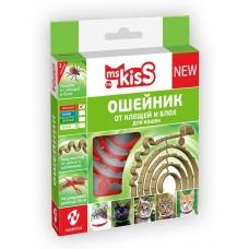 Ms.Kiss - натуралнен, репелентен нашийник за котки ЧЕРВЕН, 38 см, Русия, MK05-00340