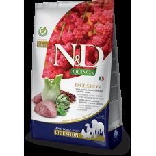 N&D DOG GRAIN FREE QUINOA DIGESTION LAMB – за чувствителен стомах, лъскава козина и здрава кожа, за кучета над 1 година, с агнешко месо, киноа, копър, мента и артишок - 2,5 кг
