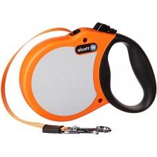 Alcott Neon M - автоматичен повод Неон ОРАНЖЕВ - дължина на повода 4,8 м - подходящо за кучета до 29,4 кг NEMOR