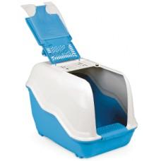 Напълно оборудвана закрита тоалетна за котки + филтър с активен въглен NETTA 060205