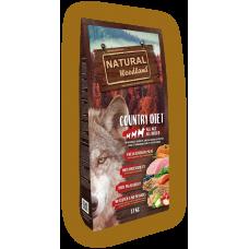Natural WoodLand Country Diet – Прясно месо от Пуйка и Пиле - храна за кучета от всички възрасти и породи с 100% натурални съставки - 12кг, Испания