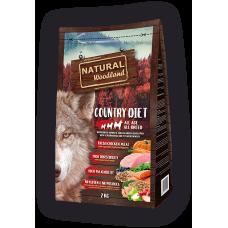 Natural WoodLand Country Diet – Прясно месо от Пуйка и Пиле - храна за кучета от всички възрасти и породи с 100% натурални съставки - 2кг, Испания