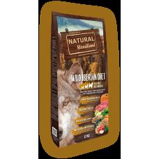 Natural WoodLand Wild Iberian Diet - Прясно месо от Диво прасе - храна за кучета от всички възрасти и породи с 100% натурални съставки - 12кг, Испания