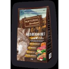 Natural WoodLand Wild Iberian Diet - Прясно месо от Диво прасе - храна за кучета от всички възрасти и породи с 100% натурални съставки - 2кг, Испания