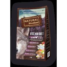 Natural WoodLand Ocean Diet - Прясна океанска риба - храна за кучета от всички възрасти и породи с 100% натурални съставки - 2кг, Испания