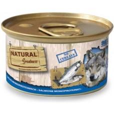 NATURAL Greatness Salmon Monoproteinic Recipe - Монопротеин Сьомга (за чувствителни стомаси), 170 гр, Испания