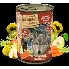 NATURAL Greatness Venison with Carrots, Pear and Dandelion - Дивеч с моркови, круши и глухарчета - Хипоалергенна храна, без зърнени култури, 400 гр, Испания