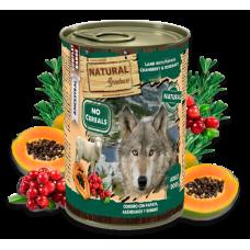 NATURAL Greatness Lamb with papaya, cranberry and rosemary - Агне с папая, боровинки и розмарин - Хипоалергенна храна, без зърнени култури, 400 гр, Испания