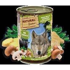 NATURAL Greatness Angus Beef with mushrooms, ginger and rosemary - Говеждо с джинджифил, розмарин и гъби - Хипоалергенна храна, без зърнени култури, 400 гр, Испания