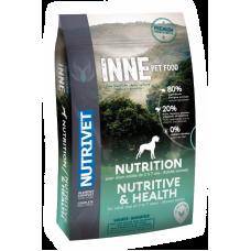 Nutrivet INNE NUTRITIVE & HEALTH - храна за пораснали кучета от 2 до 7 години с нормална активност, БЕЗ ЗЪРНО, за всички породи, Франция - 12 кг