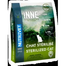 Nutrivet Inne Cats Sterilized GRAIN FREE - храна за подрастващи и израснали котки, БЕЗ ЗЪРНО, за кастирани или наднормени килограми, Франция - 6 кг