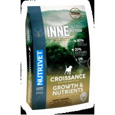 Nutrivet Inne Dogs Growth & Nutrients - храна за подрастващи кученца от 2 месеца до 2 години БЕЗ ЗЪРНО, за всички породи, Франция - 12 кг