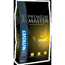 Nutrivet Premium Master JUNIOR - храна за млади кучета малки породи 6-12 месеца, средни породи 4-15 месеца, големи породи 3-18 месеца, Франция - 15 кг