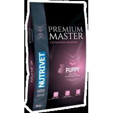 Nutrivet Premium Master PUPPY - храна за подрастващи кученца малки породи до 6 месеца, средни породи до 4 месеца, големи породи до 3 месеца, Франция - 15 кг