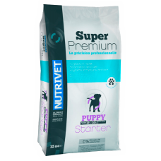 Nutrivet Super Premium PUPPY 32 20 DOGS STARTER - за кучета малки породи 3-6 месеца, средни породи 2-4 месеца, големи породи 1-3 месеца, Франция - 15 кг