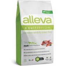 ALLEVA® Equilibrium Sensitive Lamb & Ocean Fish - Adult Mini/Medium - пълноценна храна за пораснали кучета над една година, от всички мини и средни породи с агне и риба, подходяща за чувствителни стомаси, Италия - 2 кг P6011/311