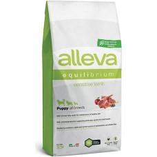 ALLEVA® Equilibrium Sensitive Lamb Puppy All Breeds - пълноценна храна за подрастващи кучета до една година, от всички породи, Италия - 12 кг P6001