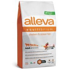 ALLEVA® Equilibrium All Day Maintenance Chicken & Ocean Fish All Breeds - пълноценна храна за пораснали кучета от всички породи, над една година, Италия - 2 кг P6002/303