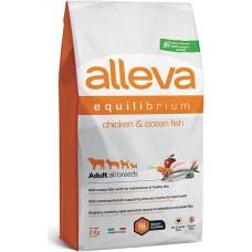 ALLEVA® Equilibrium All Day Maintenance Chicken & Ocean Fish All Breeds - пълноценна храна за пораснали кучета от всички породи, над една година, Италия - 12 кг P6003