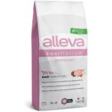 Alleva® Equilibrium (Adult Medium/Maxi) Sensitive Pork - пълноценна храна за пораснали кучета от всички породи, над една година, с чувствителни стомаси, Италия - 12 кг P6010